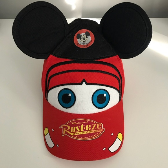 dbad2907908a7 Disney Other - Disney Cars Mickey Ears Lightning McQueen Hat